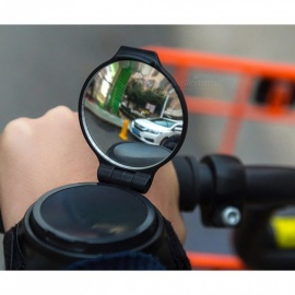 Bracelet Type 360 Degree Rotating Reflective Rearview Mirror - Black