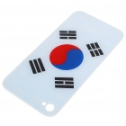 Replacement Battery Back Cover Case w/ 2 Screwdrivers for Apple iPhone 4 - Korean National Flag