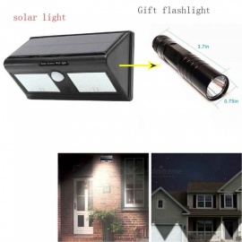 40-LED Solar Powered Garden Light with Human Body Induction IR Sensor LED Mini Flashlight