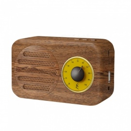 altoparlante bluetooth vintage, altoparlante wireless portatile basso aspetto retrò - marrone
