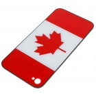 Replacement Battery Back Cover Case w/ 2 Screwdrivers for Apple iPhone 4 - Canada Flag Style