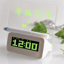 Creative Message Board Electronic Alarm Clock