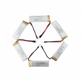 6Pcs 3.7V 550mAh Li-po Battery for Hubsan H107 H107C SYMA X5C JJRC H8 mini