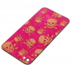 Cool Replacement Battery Back Cover Case w/ 2 Screwdrivers for Apple iPhone 4 - Skull Style (Pink)