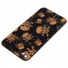 Coole Replacement Battery Cover-Rückseite Case w / 2 Schraubendreher für Apple iPhone 4 - Skull Style (Schwarz)