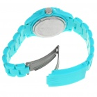 Fashion Waterproof Plastic Quartz Sports Wrist Watch with Calendar - Blue (1*626D)