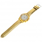 Fashion Ladies Women Crystal Decoration Quartz Wrist Watch - Gold (1*377)