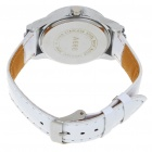 Fashion Ladies Crystal Decoration Quartz Wrist Watch - White + Silver