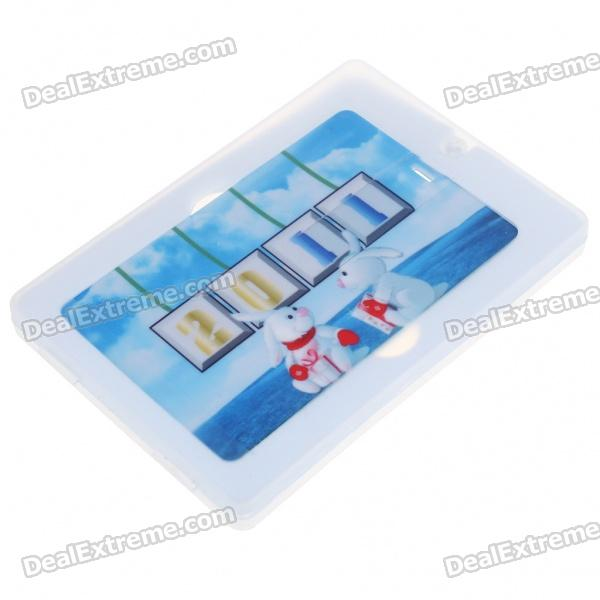 New 2011 Kaninchen Muster Name Card-Stil USB 2.0 Flash Drive mit Kalender (4GB)