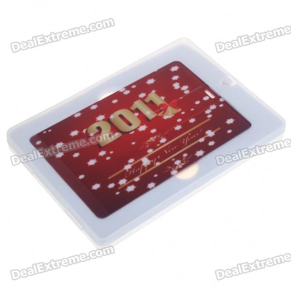 New 2011 Festival Name Card Style USB 2.0 Flash Drive with Calendar (1GB)