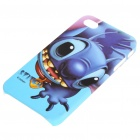 Stitch Style Protective Plastic Back Case w/ Screen Guard + Cleaning Cloth for iPhone 4
