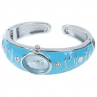 Stylish Bracelet Band Wrist Watch - Blue + Silver (1*377)