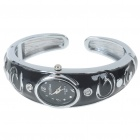 Stylish Bracelet Band Wrist Watch - Black + Silver (1*377)