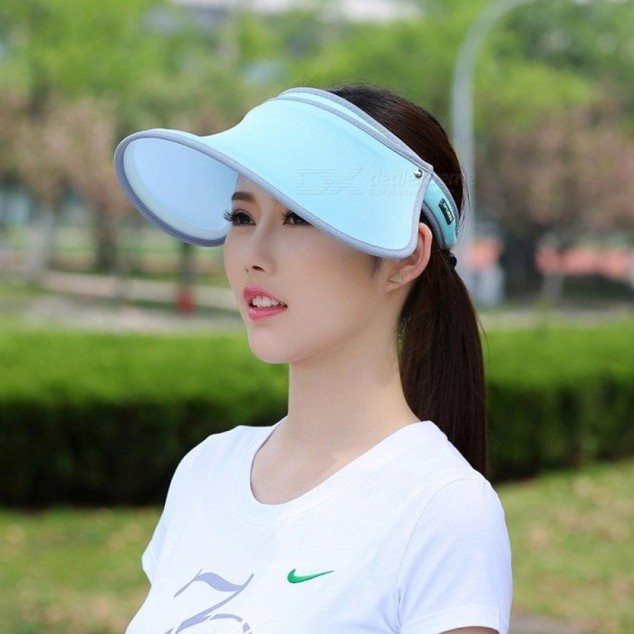 Portable Casual Extendable Sun Hat�� UV Protection Rotating Open Top Sunhat Cap For Summer Purple