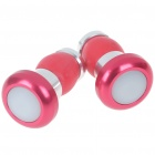 Waterproof 2-Mode Bike Bar-End Red Lights - Red + Silver (Pair/2*AG10)