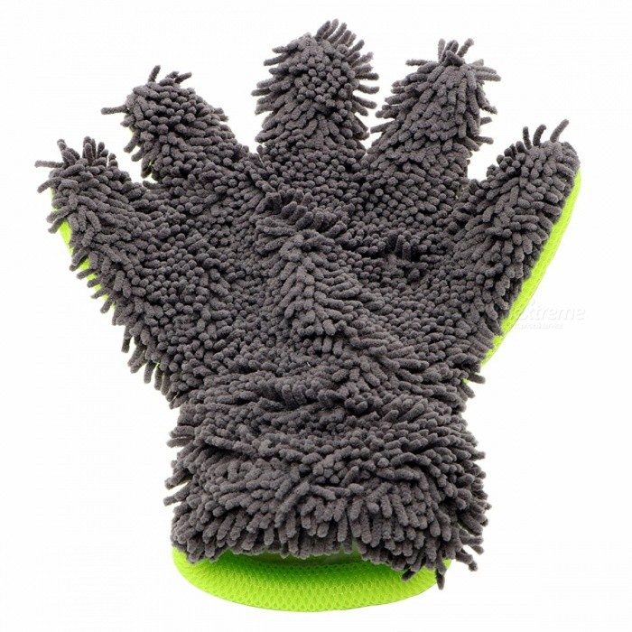 8ac9baddda3a Auto Care Detailing Home Cleaning Car Washing Gloves Microfiber Car  Cleaning Window Wash Tools Car-styling One Size Gray