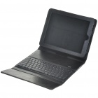 Wireless Bluetooth Keyboard With Folding Leather Case for iPad (Black)