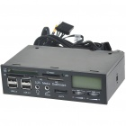 "1.7"" LCD PC Chassis Front Panel Temperature + Card Reader w/ 4*USB/e-SATA/2*3.5mm Audio"