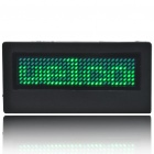 Programmable Scrolling LED Name/Message/Advertising Tag Badge - Green Light (1*CR2032)