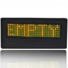 Programmable Scrolling LED Name/Message/Advertising Tag Badge - Yellow Light (1*CR2032)