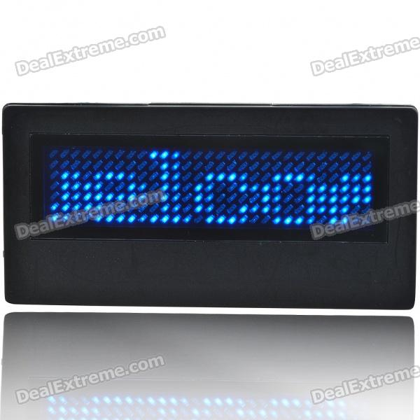 Programmable Scrolling LED Name/Message/Advertising Tag Badge - Blue Light (1*CR2032)