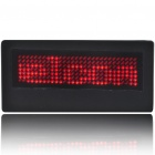 Programmable Scrolling LED Name/Message/Advertising Tag Badge - Red Light (1*CR2032)