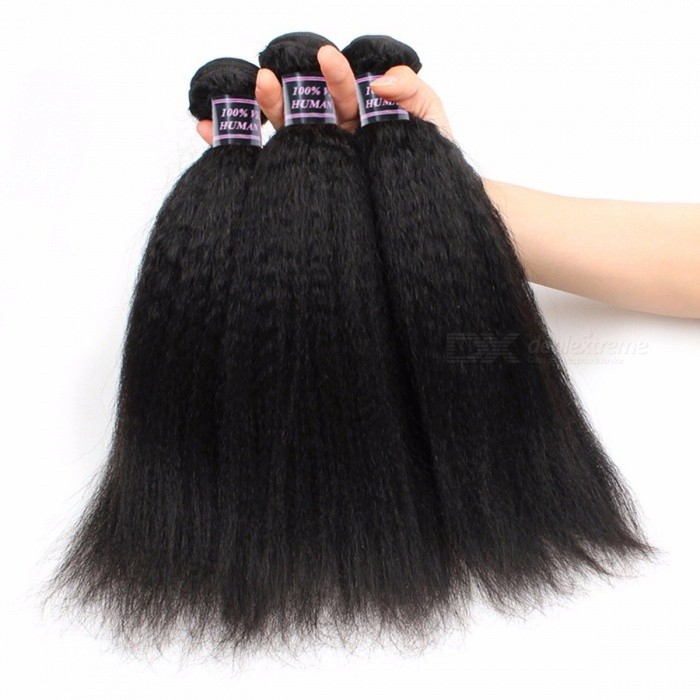 Kinky Straight Human Hair Weave Bundles Indian Hair Bundle Non