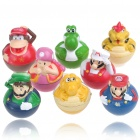 Cute Super Mario Figures PVC Tumblers (8-Figure Set)