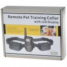 "Electronic Bark-Control Dog Collar with 0.9"" LCD RF Wireless Remote Controller (2*4LR44 + 2*AAA)"