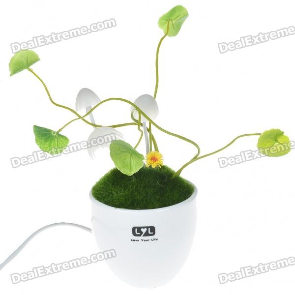 Light Activated Energy Saving Avatar 3-LED Mushroom White Light Night Lamp (220V)