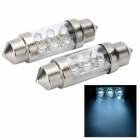 6-LED Power-Saving Vehicle Light Bulbs (12V White 2-Pack)