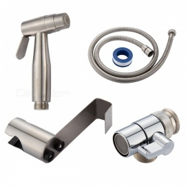 304 Stainless Steel Brushed Nickle Double Water Mode Bidet Sprayer Shattaf Set with Diverter