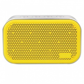 Super Bass Wireless Bluetooth Small Steel Portable Mini Stereo Speaker Support TF Card - Yellow