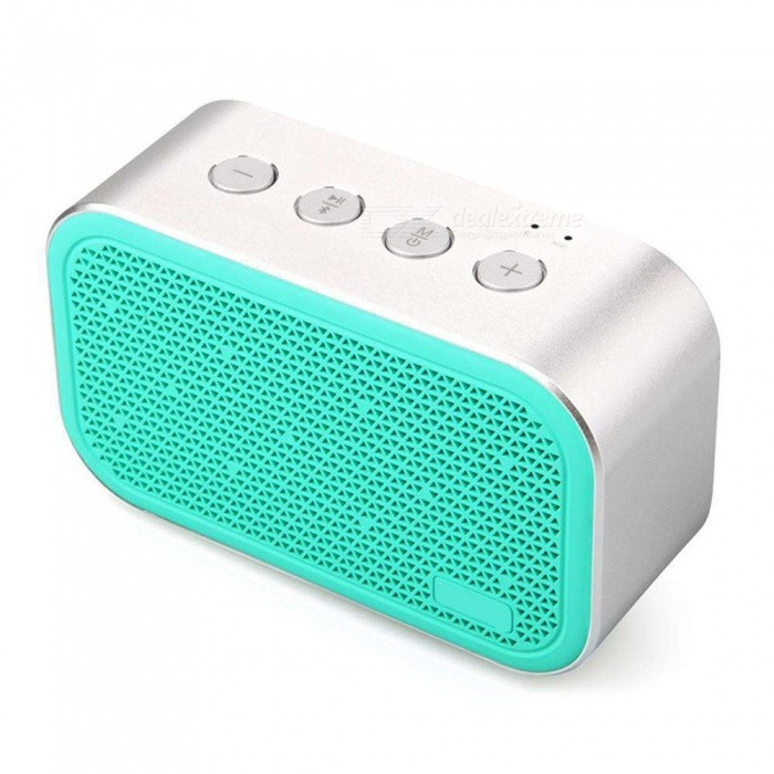 Super Bass Wireless Bluetooth Small Steel Portable Mini Stereo Speaker Support TF Card - Green