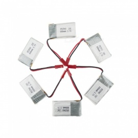 6Pcs 3.7V 680mAh Li-po Battery for Hubsan H107 H107C SYMA X5C JJRC H8 mini