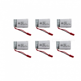 6Pcs 3.7V 750mAh Li-po Battery for Hubsan H107 H107C SYMA X5C JJRC H8 mini
