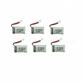 6Pcs 3.7V 260mAh Li-po Battery for Hubsan H107 H107C SYMA X5C JJRC H8 mini