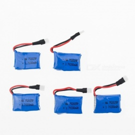 5Pcs 3.7V 200mAh Li-po Battery for Hubsan H107 H107C SYMA X5C JJRC H8 mini
