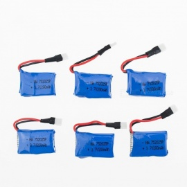 6Pcs 3.7V 200mAh Li-po Battery for Hubsan H107 H107C SYMA X5C JJRC H8 mini