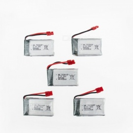 5Pcs 3.7V 500mAh Li-po Battery for Hubsan H107 H107C SYMA X5C JJRC H8 mini