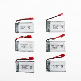6Pcs 3.7V 500mAh Li-po Battery for Hubsan H107 H107C SYMA X5C JJRC H8 mini