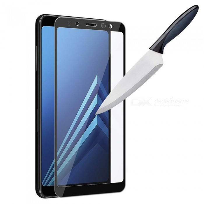 Naxtop Full Tempered Glass Screen Protector for Samsung Galaxy A8 (2018) -  Black