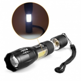 A100 Mini Stretch Zoom LED+COB Flashlight Multifunction Flashlight