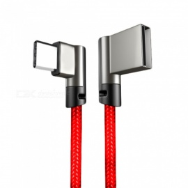 Elbow USB Type-C Nylon Weaving Fast Charging Data and Sync Cable for Xiaomi - Red