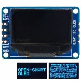 OPEN-SMART 0.96 Inch 128 * 64 I2C Interface Blue Color OLED Display Breakout Module for Arduino