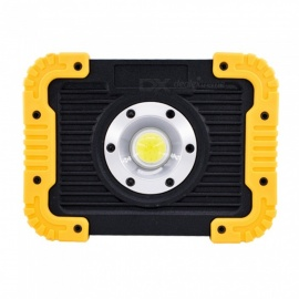 Ismartdigi i-835 YL 10W 3.7V Super Slim 4.5cm LED Flashlight Floodlight USB Rechargeable - Yellow