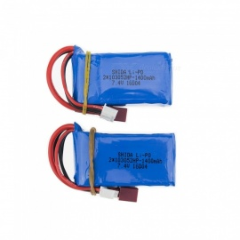 2 PCS 7.4V 1400mAh Lithium Polymer High Power Li-po Battery for Syma X8C X8W RC Quadcopter
