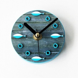 The Mediterranean Sea Fish Wall Clocks Beautiful Blue Sea Clocks Quartz Home Wall Kids Room Wall Silent Watches Children