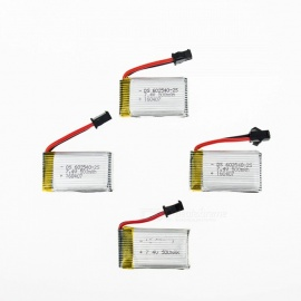 4 PCS 7.4V 500mAh Lithium Polymer High Power Li-po Battery for Syma X8C X8W RC Quadcopter