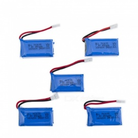 5 PCS 7.4V 400mAh Lithium Polymer High Power Li-po Battery for Syma X8C X8W RC Quadcopter